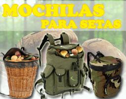 mochilas cesta y setas